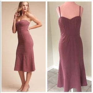 Anthropologie BHLDN Mauve Elaine Dress NWOT